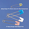 Adult Size Diaper Pins
