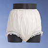 Lace Trim Full Cut Plastic Pants